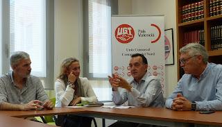 Toma de contacto del PSPV-PSOE con UGT Comarques del Nord