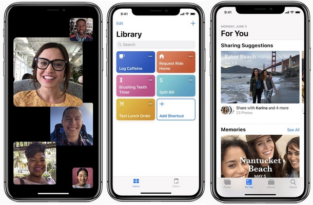 iOS 12 FaceTime, Siri, Photos
