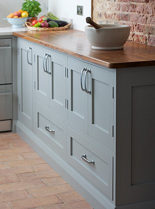 Farrow and Ball Lamp Room Gray kitchen