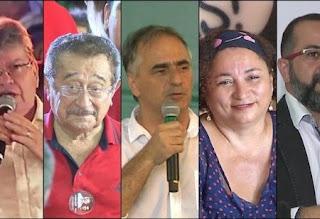 Pesquisa Ibope na Paraíba: João Azevêdo, 32%; Zé Maranhão, 28%; Lucélio, 19%