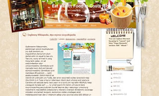 Eat Health Food in Costa Rica Blogger Template