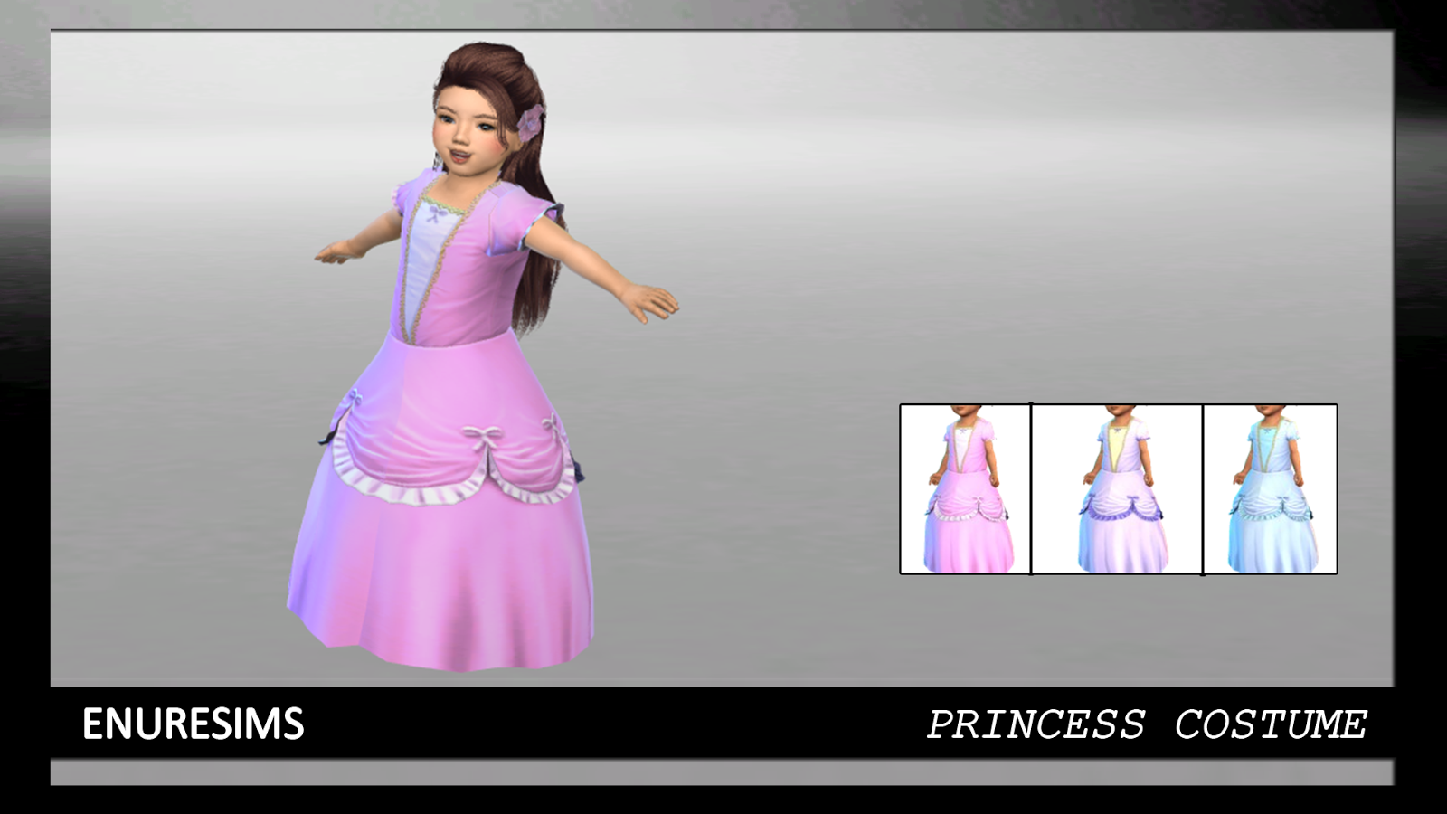 Ts3 To Ts4 Toddler Princess Costume Enure Sims