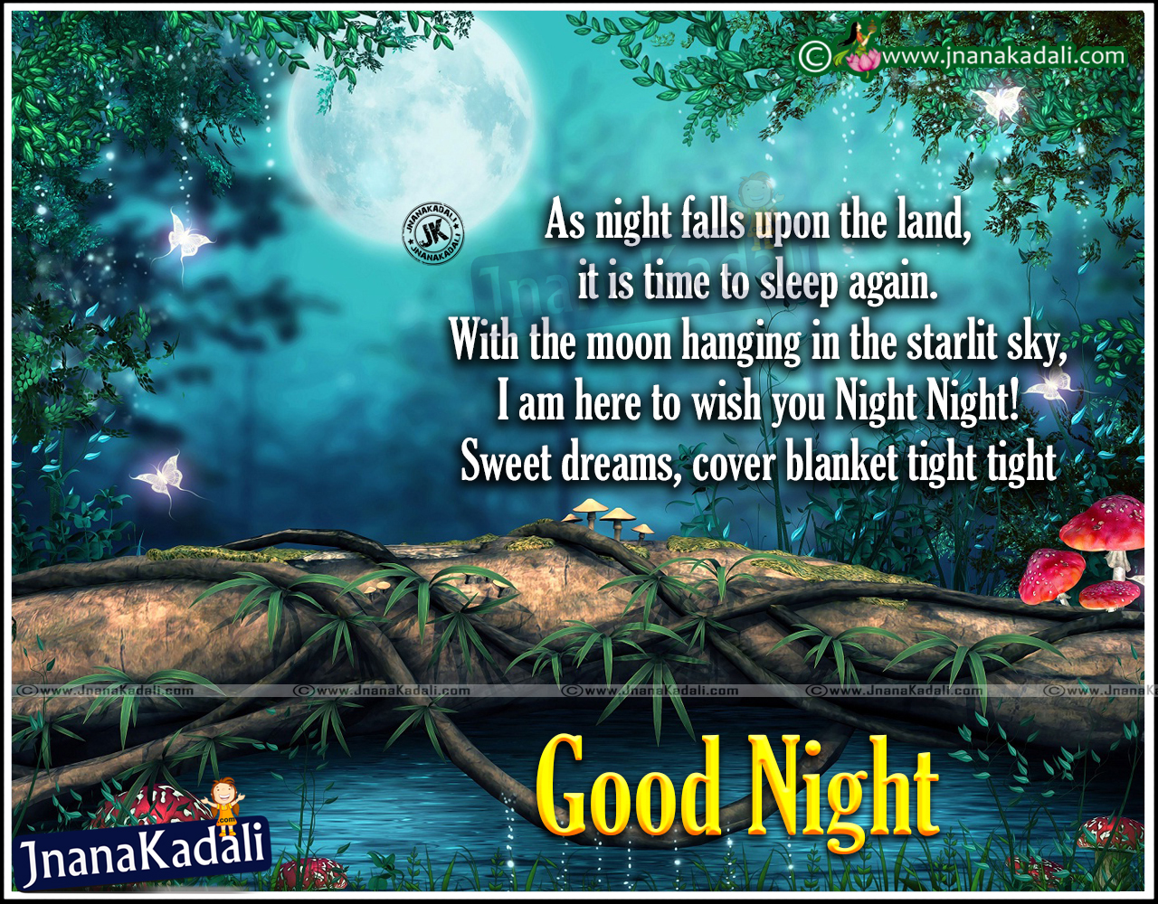 Famous Good Night Wishes Greetings For Friends Jnana Kadali