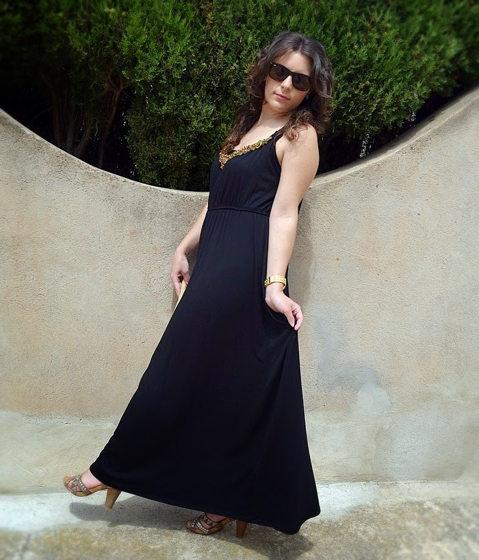 blog, blogger, fashion blogger, blog de moda, vestido largo, maxi vestido, negro, chaqueta vaquera, denim, C&A, Primark, verano, Castellón