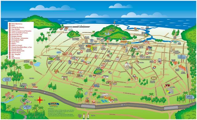 Mapa turístico de Joinville - SC