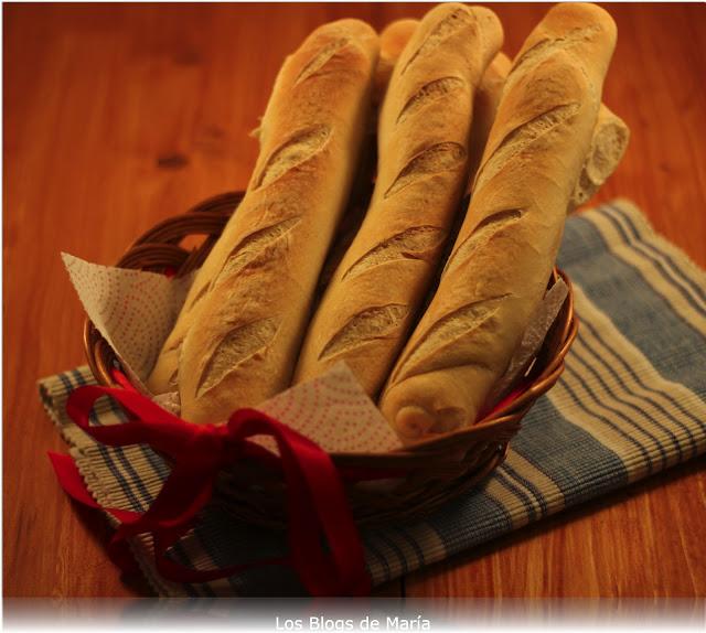 Baguettes, minibaguettes en panificadora