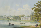 Cameron Gallery and Grotto on the Shore of the Pond in Tsarskoye Selo by Ludwig Franz Karl Bohnstedt - Cityscape Drawings from Hermitage Museum