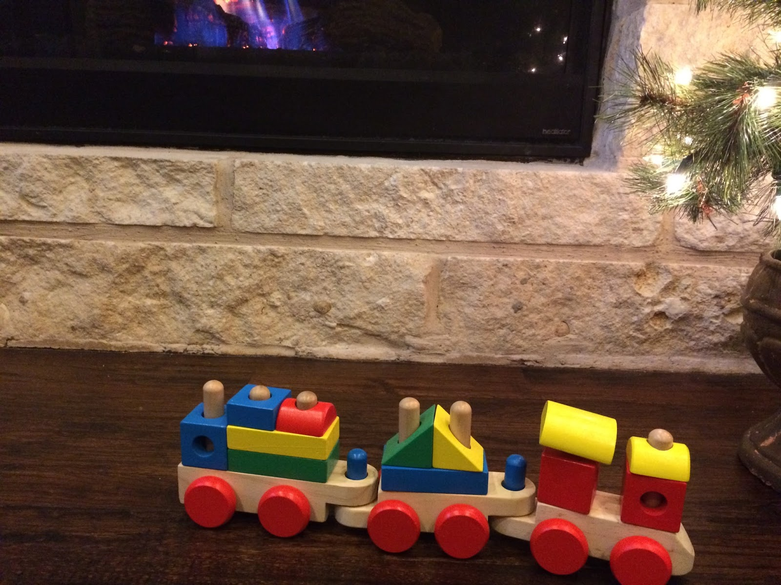 how to set up a christmas village and train on christmas morning
