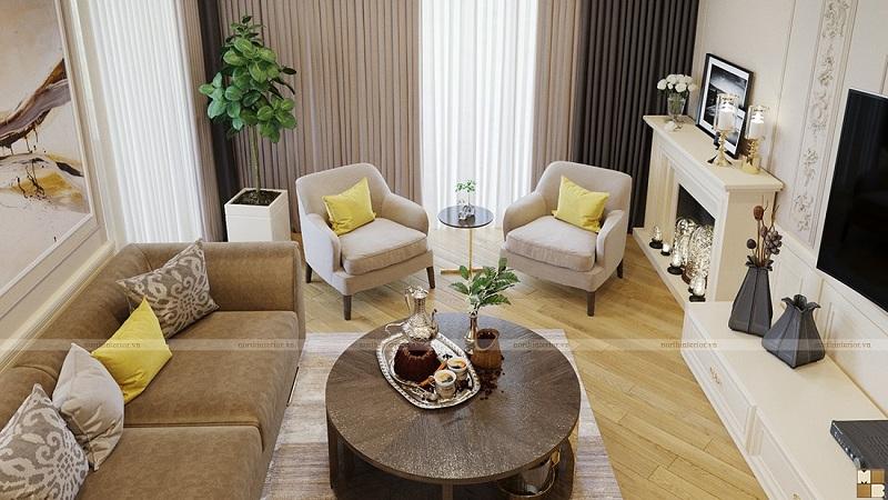 Thiết kế nội thất căn hộ 120m2 sang trọng, tiện nghi - H1
