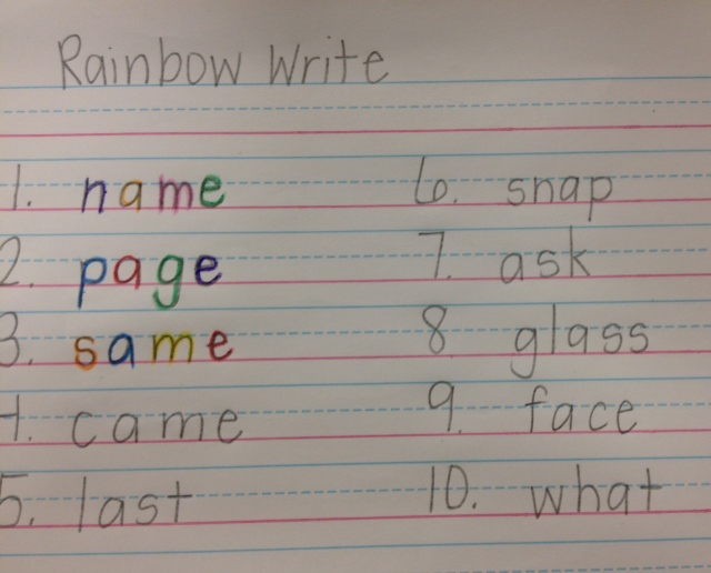 Rainbow1d writing a letter