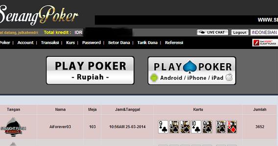 Yakin Jago Poker Uji Di Senangpoker At Com Agient Poker Gweone
