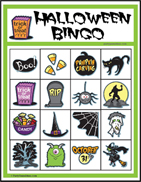 Halloween Image Bingo for Kids