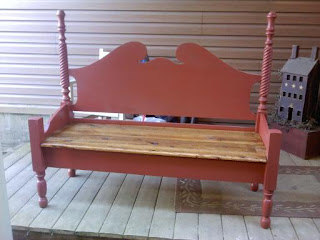 Salvaged Seats Repurposed Antique Bed Bench