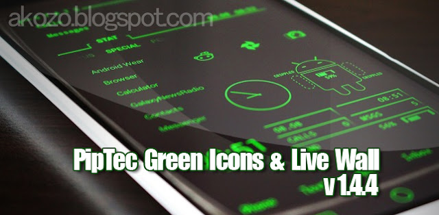 Download Gratis PipTec Green Icons & Live Wallpaper v1.4.4 APK