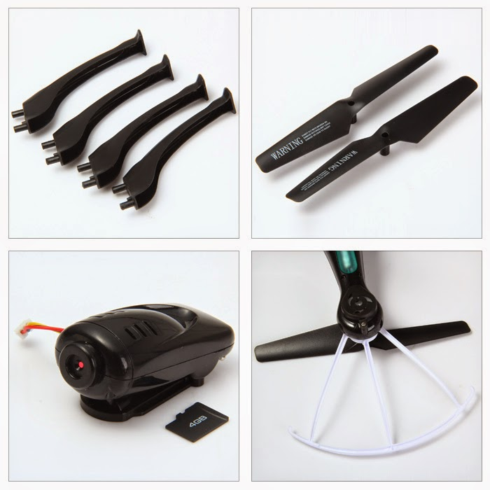Syma X5SC X5SW Quadcopter Camera Blades and Landing Gears