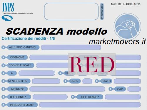 Scadenza modello red pensionati 2019 for Inps on line accedi ai servizi