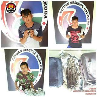 Polres Pagaralam Amankan 4 Pemuda Pengedar Narkoba