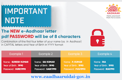 eaadhaar card new password