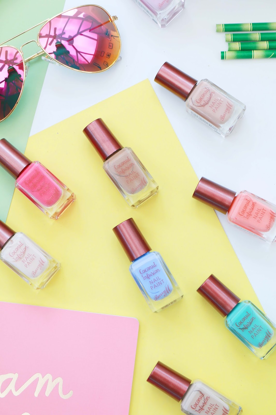 Beauty, Nails, Drugstore, Barry M, Barry M Cosmetics, Summer Nails, Boots, Drugstore, Barry M Coconut Infusion Range