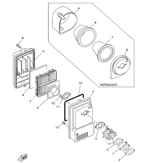 yamaha blaster motor diagram