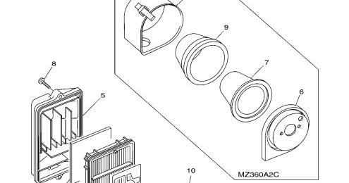 YamahaGenuineParts.com: Yamaha Mz360 Air Box