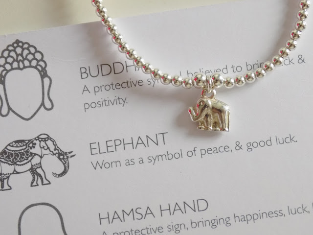 ChloBo sterling silver elephant charm bracelet