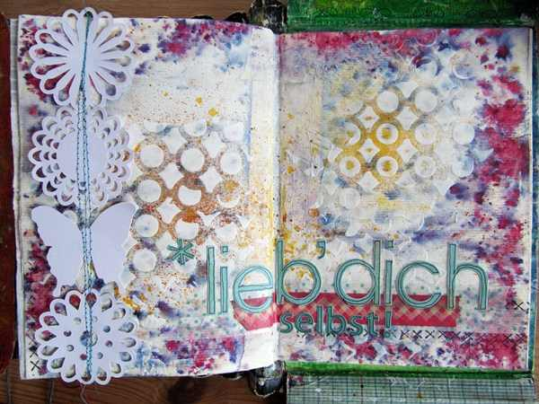 Mixed Media Montag | Tutorial Art Journal Seite | Alpha-Sticker
