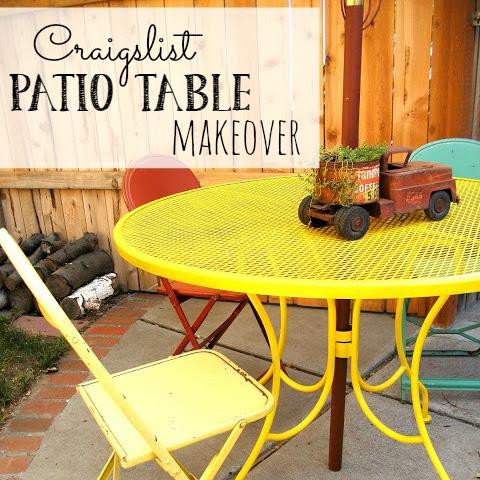 Craigslist Patio Table Makeover