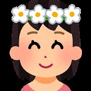 花冠をかぶった女の子のイラスト