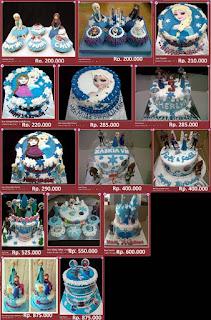 Kue Anak Perempuan Karakter Frozen
