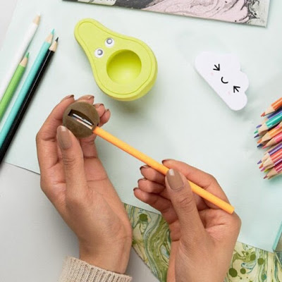 Avocado Eraser and Pencil Sharpener