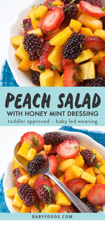 Peach Summer Salad With Mint + Honey Dressing