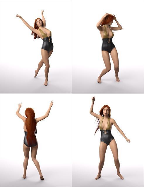 Dance Poses for Genesis 8 Female