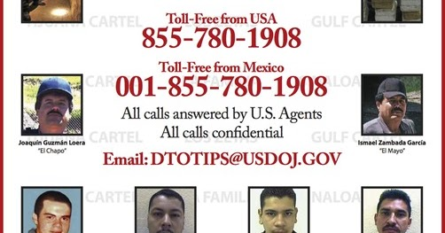 DEA releases poster of most wanted drug traffickers in San Diego