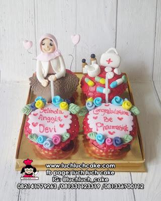 Cupcake Tema Apoteker