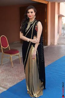 Priyanka Ramana in Beautiful Designer Black Saree At We Craft Elegance Expo Launch 052.JPG