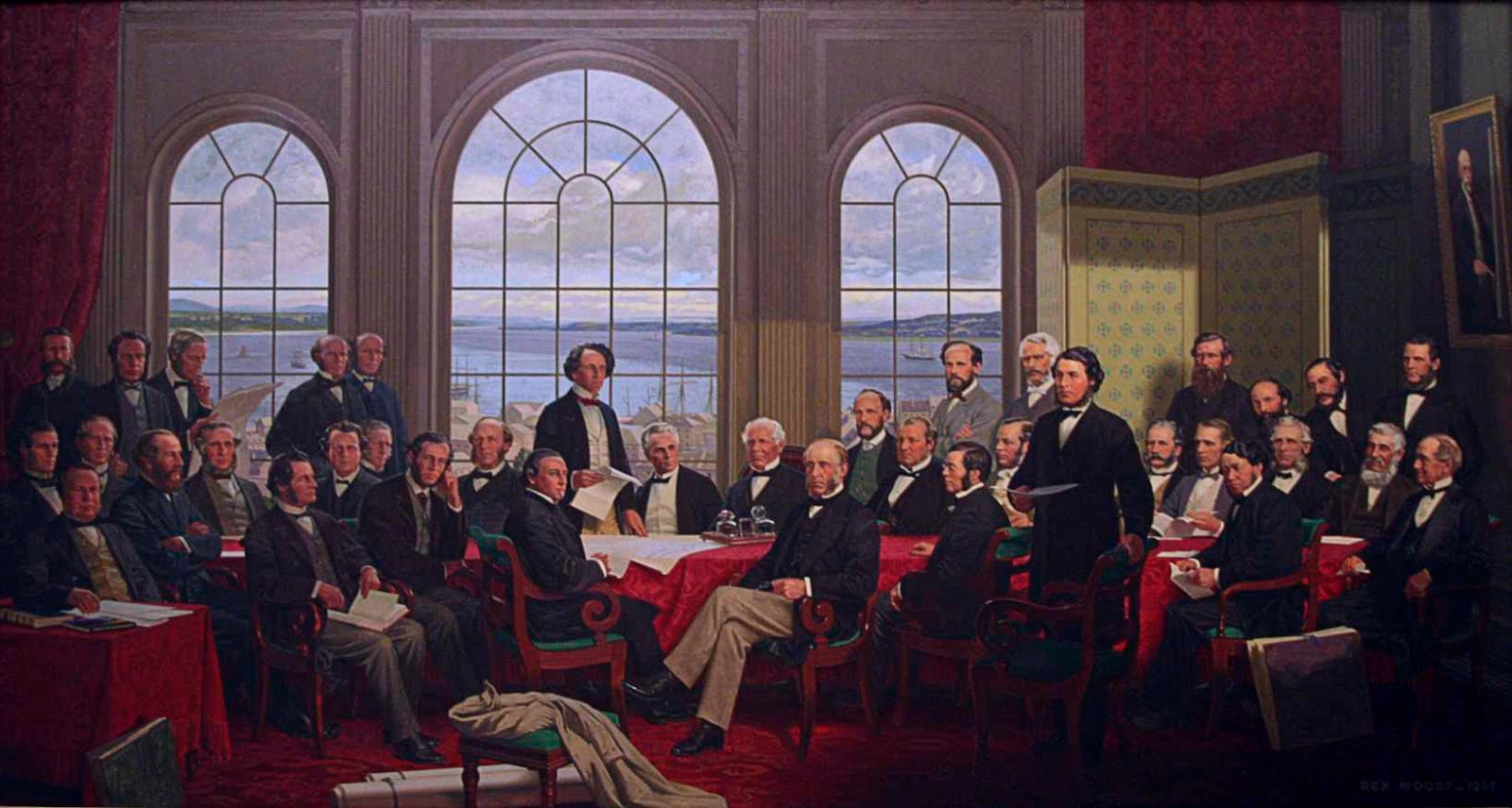 "The ""Fathers of Confederation"" meet at the Charlottetown Conference"