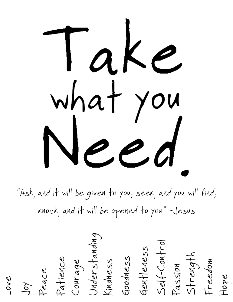 Pulling Weeds out of Potholes: Printable Take What You Need