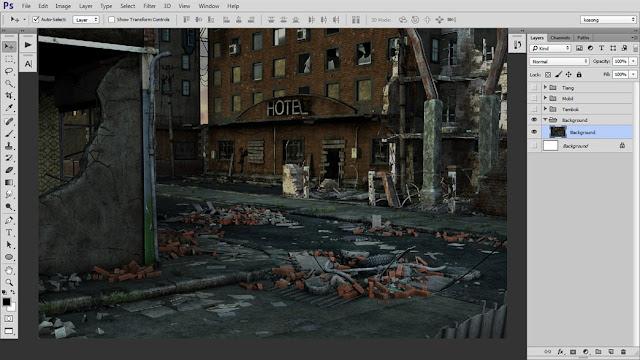 18 Tutorial Photoshop Dramatic Manipulation WAR part 1