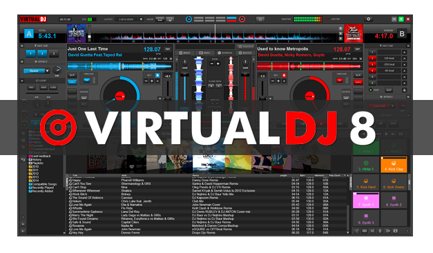 Virtual DJ 8 Pro Infinity 8.0 Full Version with Crack + Keygen Free Download