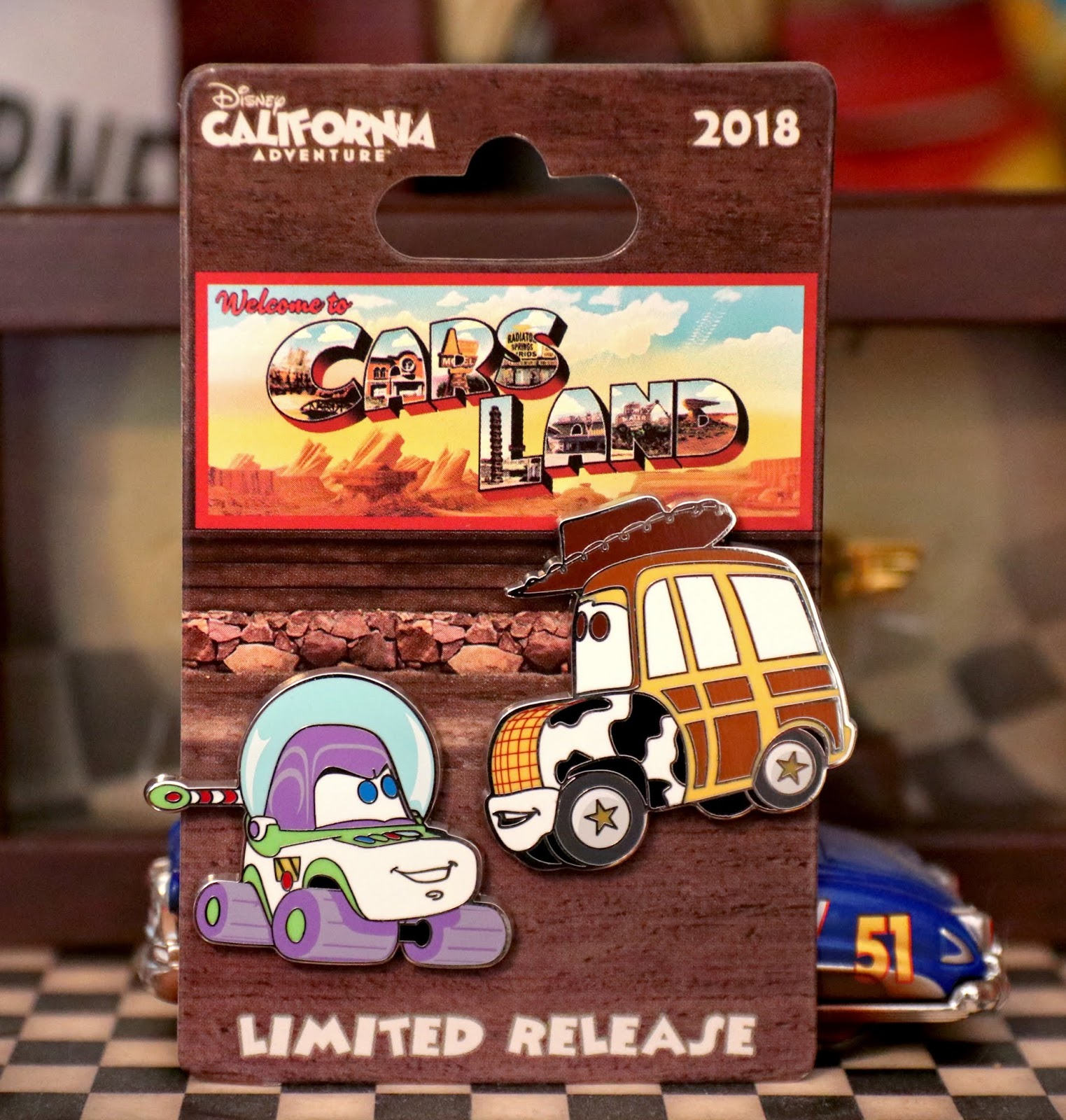 "Cars Land 2018 ""Limited Release"" Buzz & Woody Pin Set"