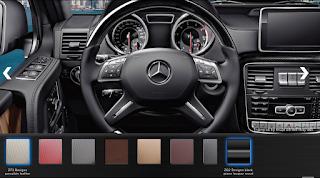 Nội thất Mercedes AMG G63 2015 màu Vàng Porcelain Leather ZF6