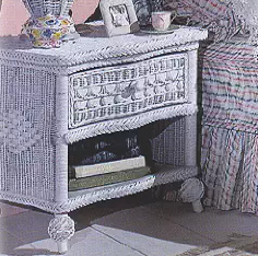 Outdoor Furniture, Wicker Nightstand, Wicker Outdoor Furniture, Classic 1 Drawer Nightstand,