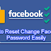 Reset Password for Facebook