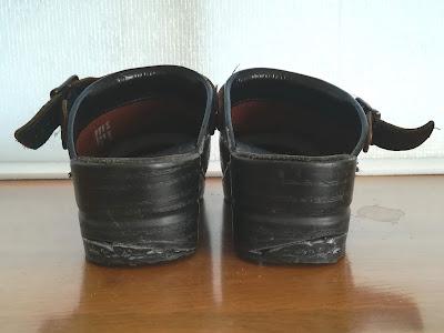 靴底補修完成