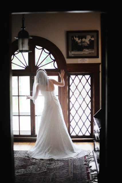 bride at burroughs home in fort myers