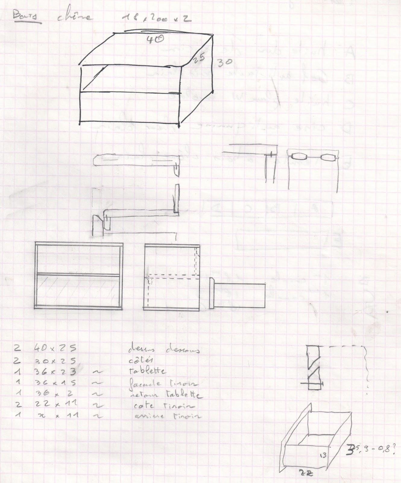 geek canal historique une table de nuit suspendue en ch ne. Black Bedroom Furniture Sets. Home Design Ideas