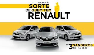 Promoção Sorte de Quem Tem Renault 2017 Concorrer Sandero 0km