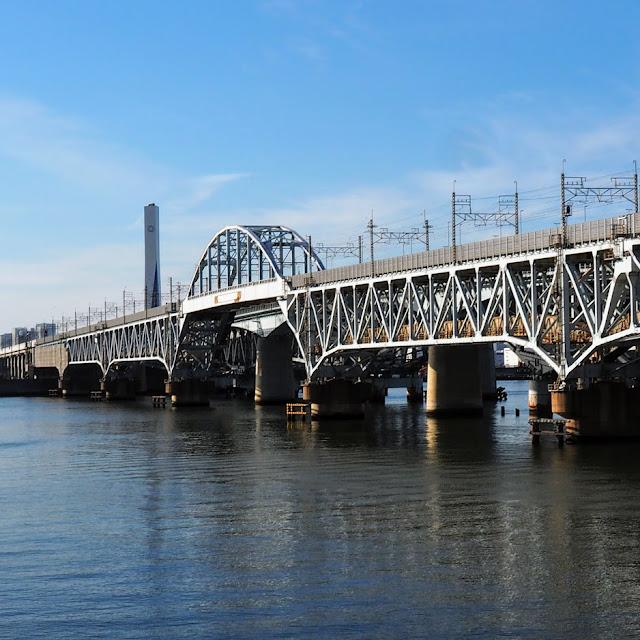 荒川河口 京葉線橋梁