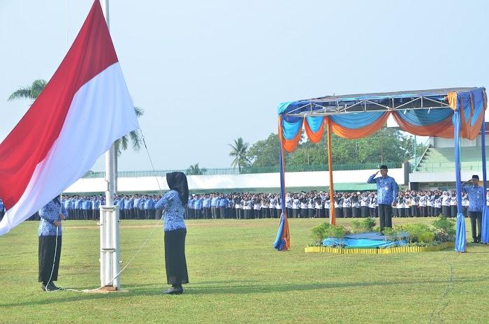 HUT Korpri Bupati Lampura berikan Apresiasi atas Pengabdian Korpri pada Bangsa dan Negara.